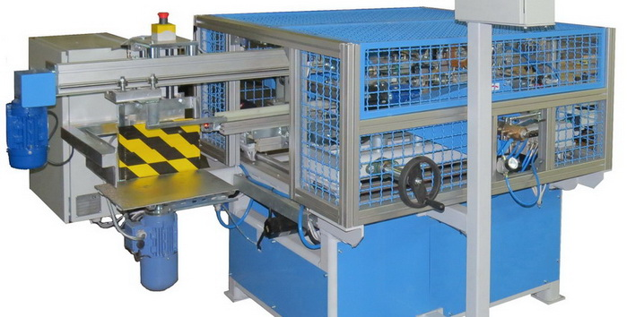 Industrial parquette panel machine